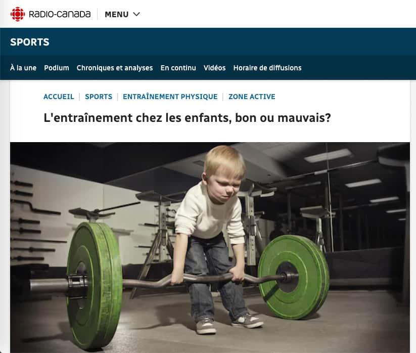 Entrainement Enfant