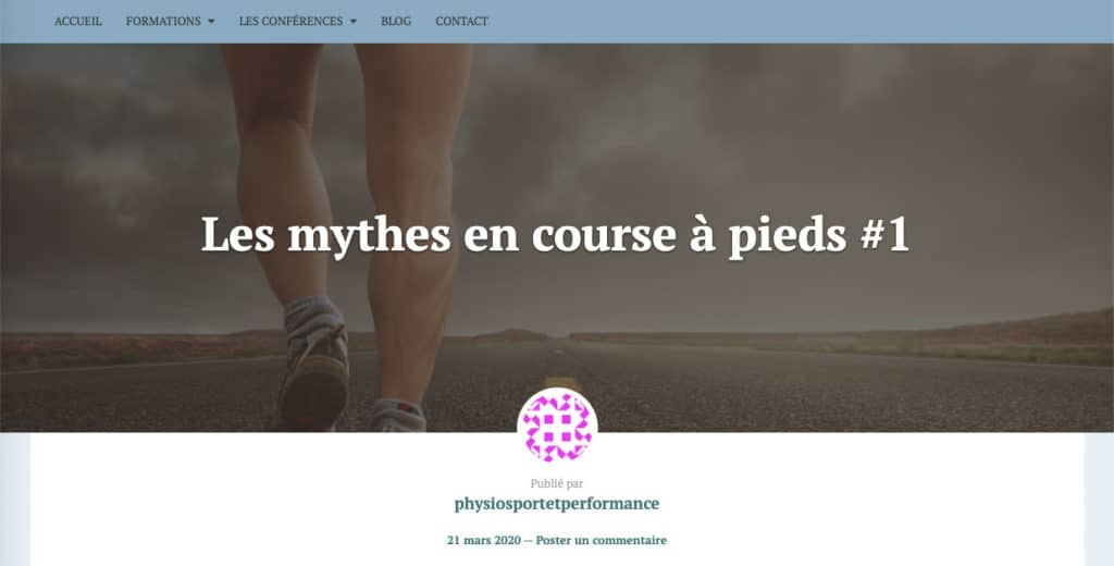 Mythes en course à pied